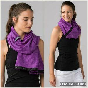 Lululemon Vinyasa Scarf MCQT purple black snap